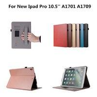 Luxury Retro PU Leather Hard Plasic Back Shell Case For Apple New IPad Pro 10 5