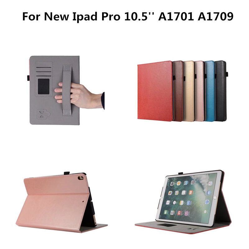 Luxury Retro PU Leather Hard Plasic Back Shell Case For Apple New iPad pro 10.5 2017 Release A1701 A1709 Tablet Book Cover rubberized hard shell case w ribbed design holster