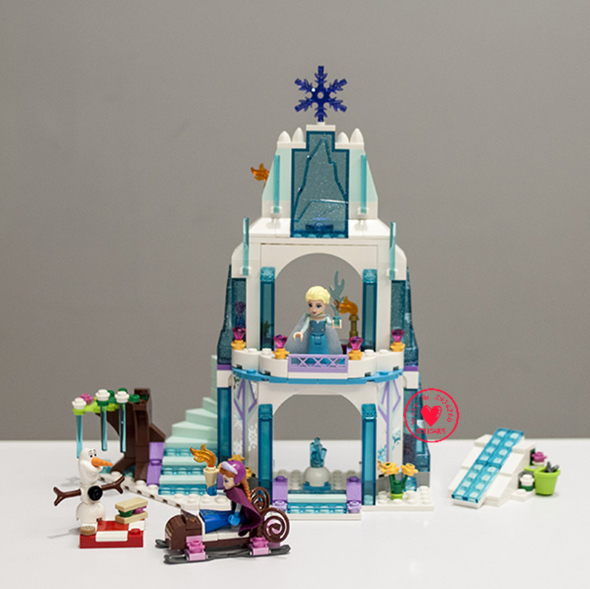 New Arendelle Castle Building Blocks bricks fit legoings 41062 Frozens Princess Friends elsa Anna Olaf DIY toy gift kid castle jg303 building blocks arendelle castle princess anna elsa buildable snow queen figures sy371 with blocks kids toys gift page 8