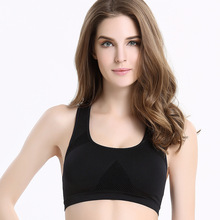[5Colour/3size] Professional Absorb Sweat Top Athletic Running Bra , Gym Seamless Active Bra Padded Vest Tanks Drop недорого