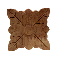 VZLX European Vintage Floral Wood Carved Corner Applique Wooden Carving for Furniture Cabinet Door Frame Wall Home Decor Crafts