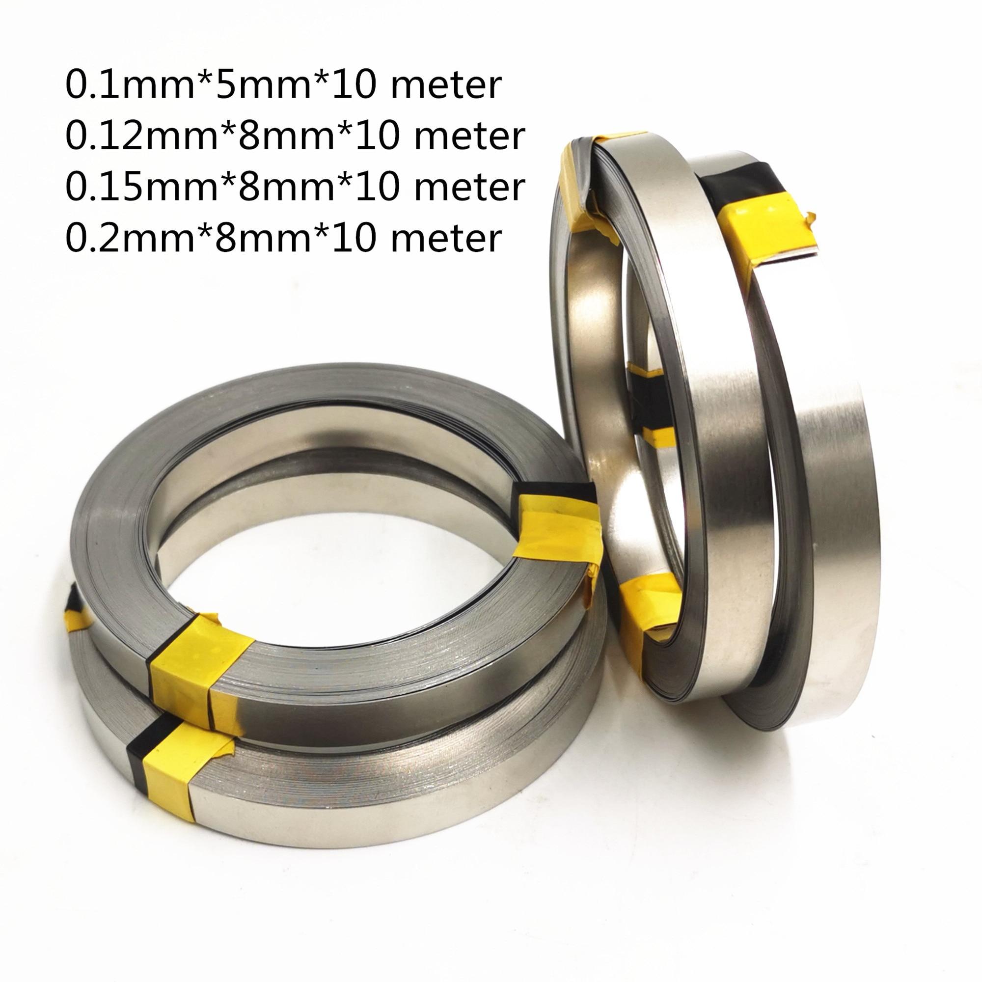 1 Roll 10m 18650 Li-ion Battery Nickel Sheet Plate Nickel Plated Steel Belt Strip Connector spot welding machine Battery welders