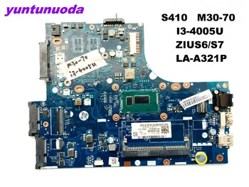 Original for Lenovo S410  laptop motherboard S410 M30-70  I3-4005U ZIUS6 S7  LA-A321  Ptested good free shipping