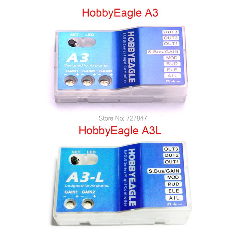 Hobby Eagle A3 / HobbyEagle A3-L A3L Aeroplane Flight Controller Stabilizer 3 Axis Gyro for RC Airplane Fixed-wing Copter wholesale eagle a3 super ii flight controll gyro 3d avcs for fixed fpv half set