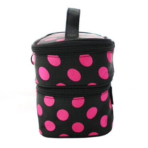 Kit pouch storage make-up toilet travel dot bag Fuchsia woman
