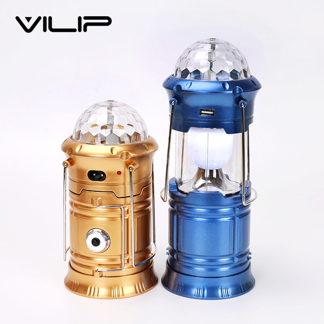 1W 6LED 3 color LED Magic Cool Camping lights for hotel