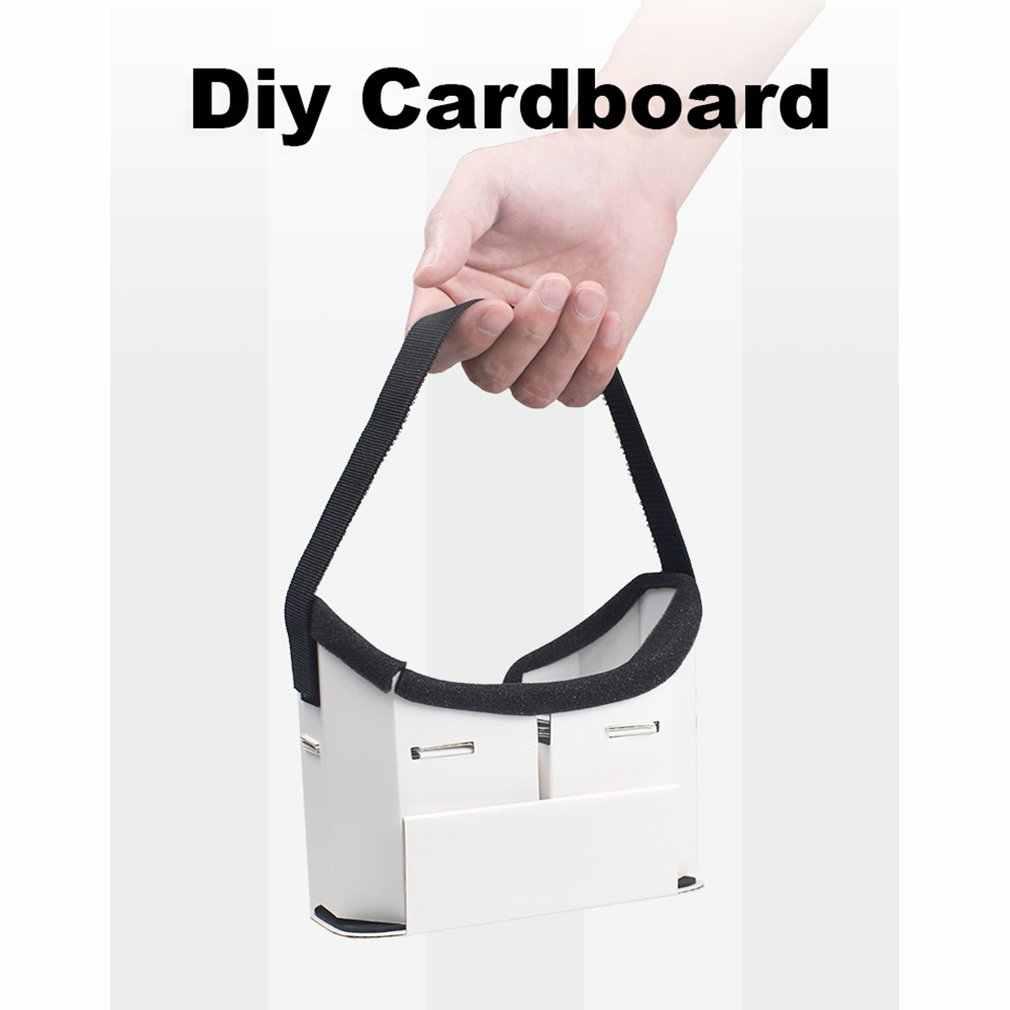 Креативные Diy Портативные Очки виртуальной реальности Google Cardboard 3D очки Vr коробка для 4-6 дюймовых смартфонов