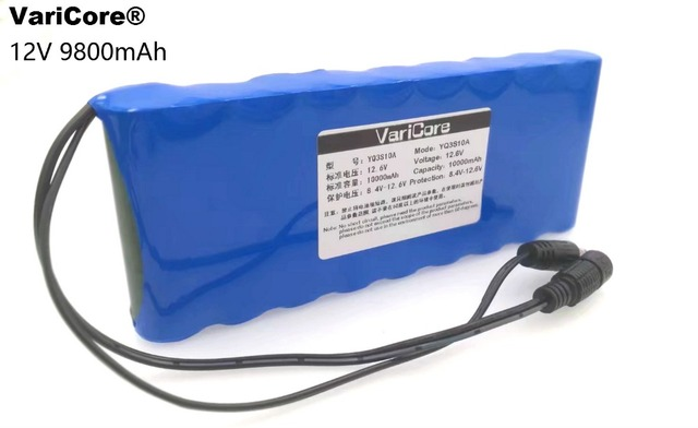12 v 9 8Ah 9800 mAh 18650 baterias Recarregáveis V Bateria de Iões lítio  Protecção Bordo CCTV Monitor bateria