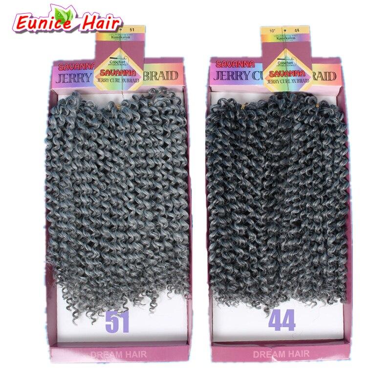 10 polegada freetress onda profunda cabelo pçs/lote cabelo sintético trança freetress jerry pacotes de cabelo encaracolado feminino torção crochê tranças