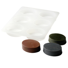 Nicole Oval Soap Silicone Mold 6-Cavity Ellipse Handmade Tool Mould