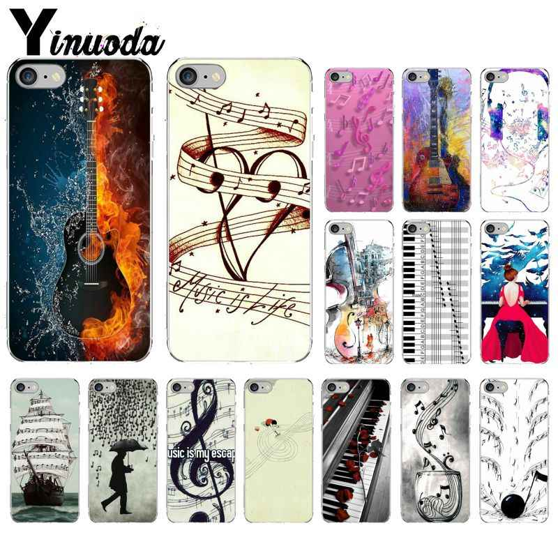 Yinuoda piano guitar music Newest Super Cute  DIY Phone Case cover Shell for Apple iPhone 8 7 6 6S Plus X XS MAX 5 5S SE XR