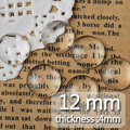 12MM Round Flat Back clear Crystal glass Cabochon,Top quality;clear glass cabochon,glass title;sold as 200pcs/lot-C1054