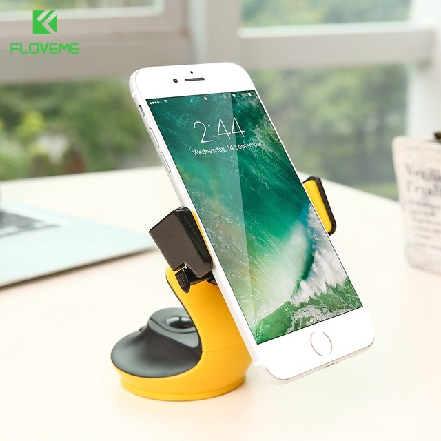 FLOVEME Car Phone Holder Stand For iPhone 11 Pro Max XR Automatic Lock Table Holder Bracket Phone For Samsung S10 GPS Support 3