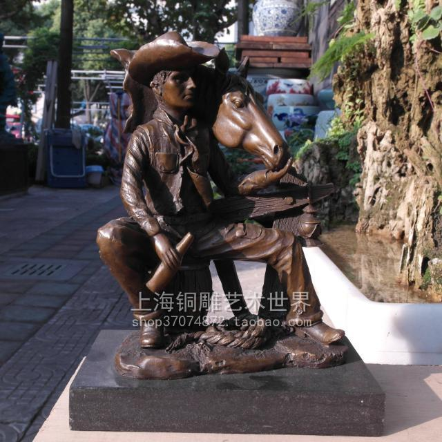 Cowboys COWBOY RIDING character abstract bronze horse copper sculpture art crafts Home Furnishing jewelry ornamentsCowboys COWBOY RIDING character abstract bronze horse copper sculpture art crafts Home Furnishing jewelry ornaments