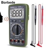 Borbede BD 19A Digital Multimeter with Voice Value DC/AC Voltage Current Resistance Capacitance NCV True RMS Diode Tester