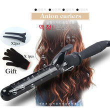 Ceramic Hair Curler PRO LCD Hair Curling Iron Salon Hair Care Styling Tools Hair Curlers Rollers with Glove 19/22/25/28/32/38 MM