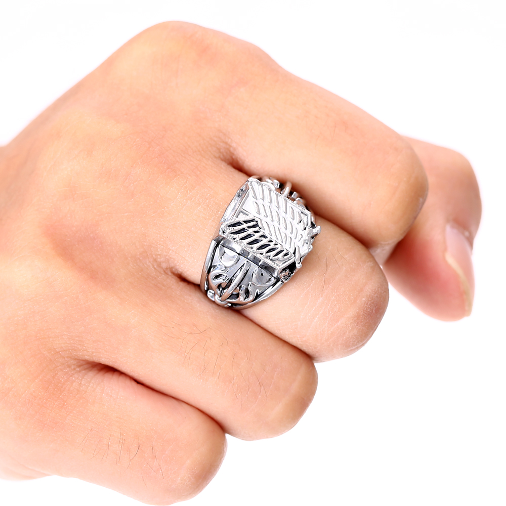 attack on titan metal high quality jewelry rings free