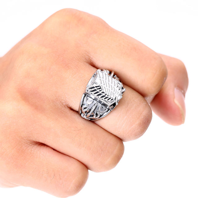Attack On Titan Silver Rings