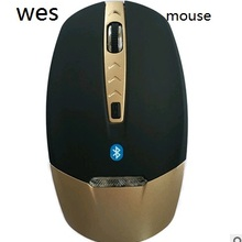 Сусальное золото Беспроводной Bluetooth 3.0 Мышь 4D 1600 Точек на дюйм синий светодиод для PC ноутбук