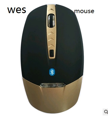 Gold Leaf  Wireless Bluetooth 3.0  Mouse 4D 1600DPI  Blue LED For PC Laptop Computer