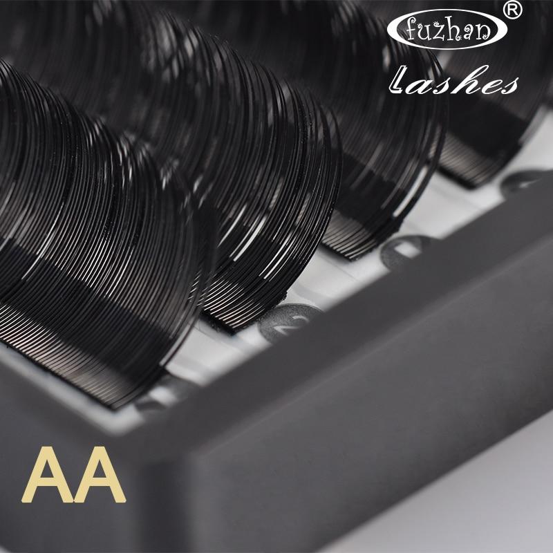 FUZHAN 2 trays 8 13mm Mixed Lengths Individual Single Cluster Long Mink False Eyelashes Extension Sable AA AAA in False Eyelashes from Beauty Health