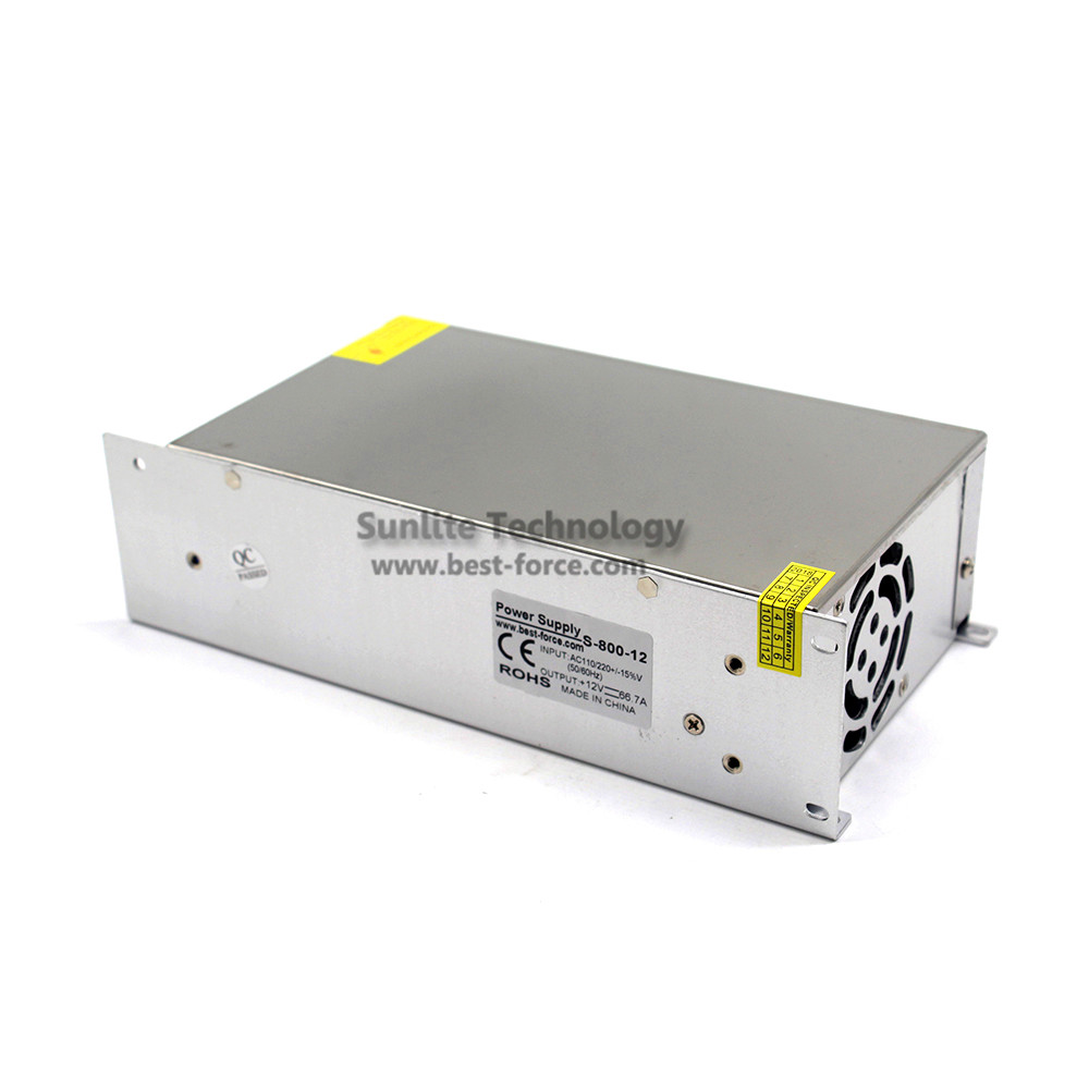 Single Output Switching power supply DC12V 66.7A 800W Driver For LED ...