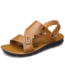 2016 Summer Fashion comfortable men's sandals Head layer leather beach shoes City life high quality sandals shoes man