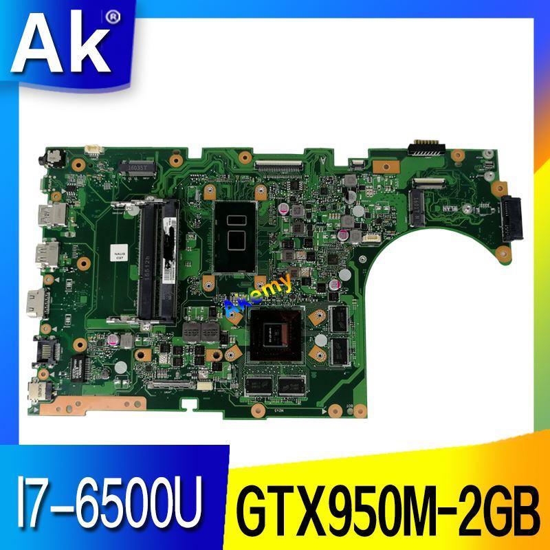 AK  X756UX MAIN_BD./I7 6500U GTX950M 2GB DDR4  Mainboard For Asus X756U X756UXM K756U X756UB laptop motherboard test ok|Motherboards| |  - title=