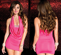 Summer Dress 2016 Off  the Shoulder Straight Bodycon Women Clubwear Strapless Mini Party Dresses Fantasias Femininas Pink S6123