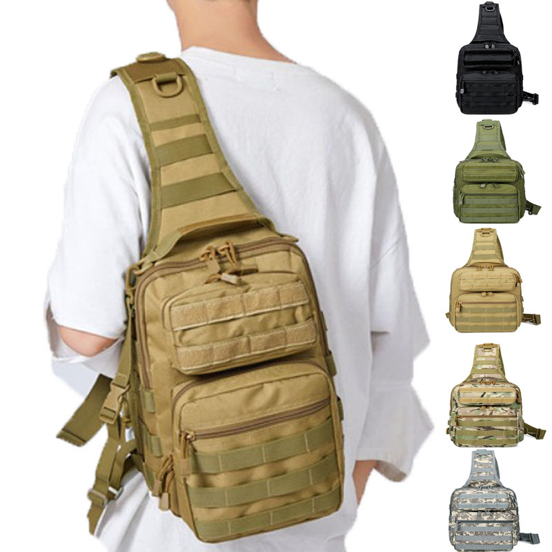 SINAIRSOFT Sport Hunting Men Military Tactical Chest MOLLE Single Shoulder Bags Nylon Wading Chest Pack Unisex