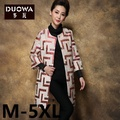 Plus size 5XL 2016 Spring Coats Women Trench coat quinquagenarian mother clothing noble o-neck plaid cardigan trench outerwear