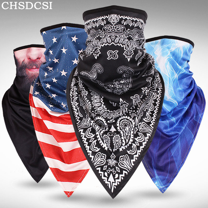 CKAHSBI Summer Scarf Outdoor Sports Cycling Equipment Bicycle Bandana   Headwear   Mask Neck Triangle Bicycle Headband Scarf