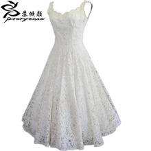 2016 Wedding Dresses Robe De Mariage Bridal Gown Vestido De Noiva Trouwjurk Casamento Plus Size Beach Zipper Lace Sleeveless