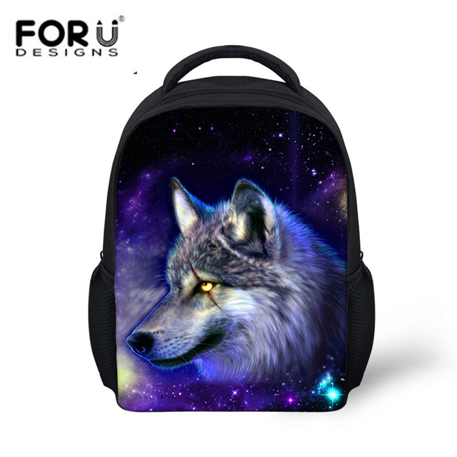 50564f9e9720 FORUDESIGNS New Arrival School Backpacks Galaxy Space Animal Wolf Horse 3D  Pattern Canvas Book Bags for