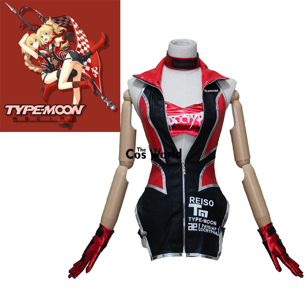 FGO Fate Grand Order EXTELLA Apocrypha Joan of Arc Racing Suit Coat Uniform Tube Tops Underpants Outfit Anime Cosplay Costumes