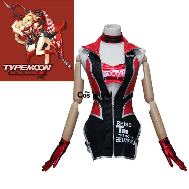 US $91 51 12% OFF|FGO Fate Grand Order EXTELLA Apocrypha Joan of Arc Racing  Suit Coat Uniform Tube Tops Underpants Outfit Anime Cosplay Costumes-in