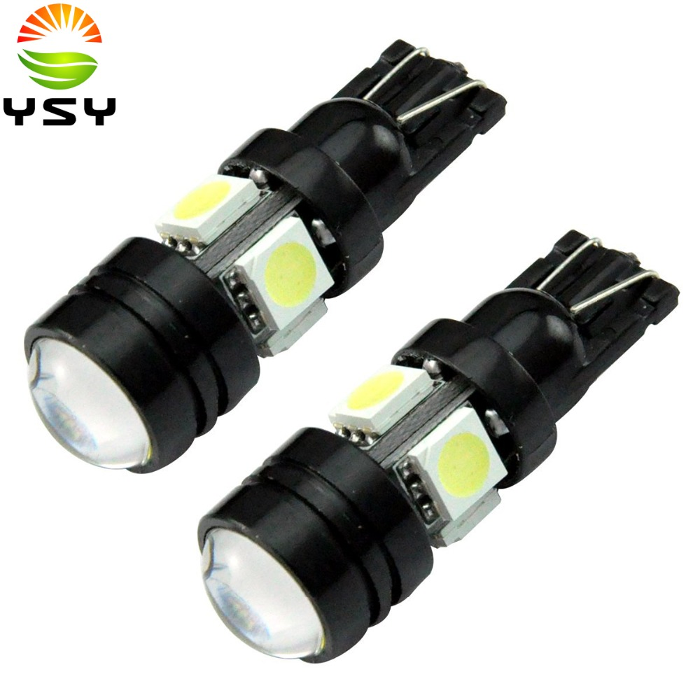 High Power 2x Car Led Bulbs 194 T10 Wedge 501 W5W 5050 4SMD High Power 105W COB LED with Project Lens Side Lights Exterior Bulbs