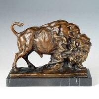 ATLIE Bronzes modern sculpture wild yak Bronze Statue animal furniture home decoration accessories
