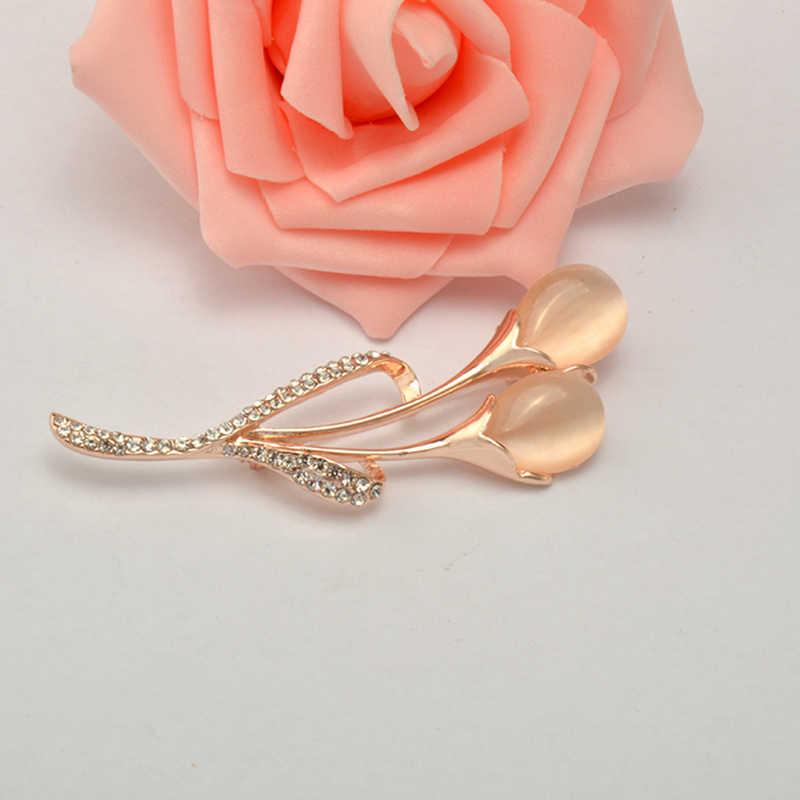 Mzc 2019 Baru Elegan Bridal Bros Bunga Tulip Bros Jilbab Pin Wanita Bros Pernikahan Aksesoris Hadiah X1690