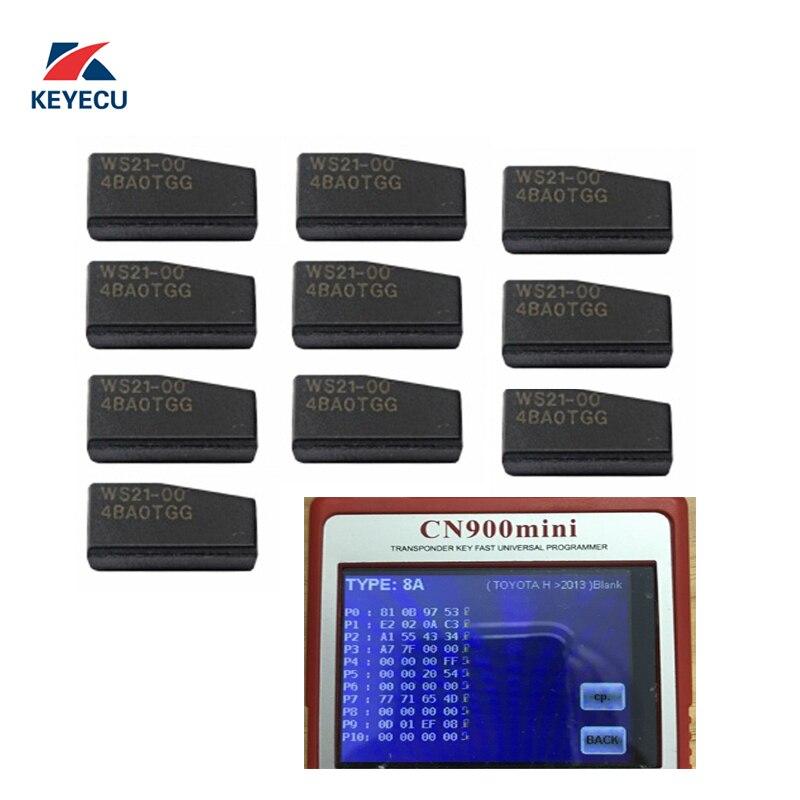 KEYECU Pack of 10 Transponder Chip for Toyota 2013 2017 Blank WS21 4D 128 Bit for