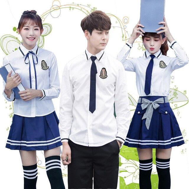 a5739a2d50cc1 Uniformes escolares coreanos para el hombre y las mujeres británico  Universidad uniformes escolares Cosplay ropa para