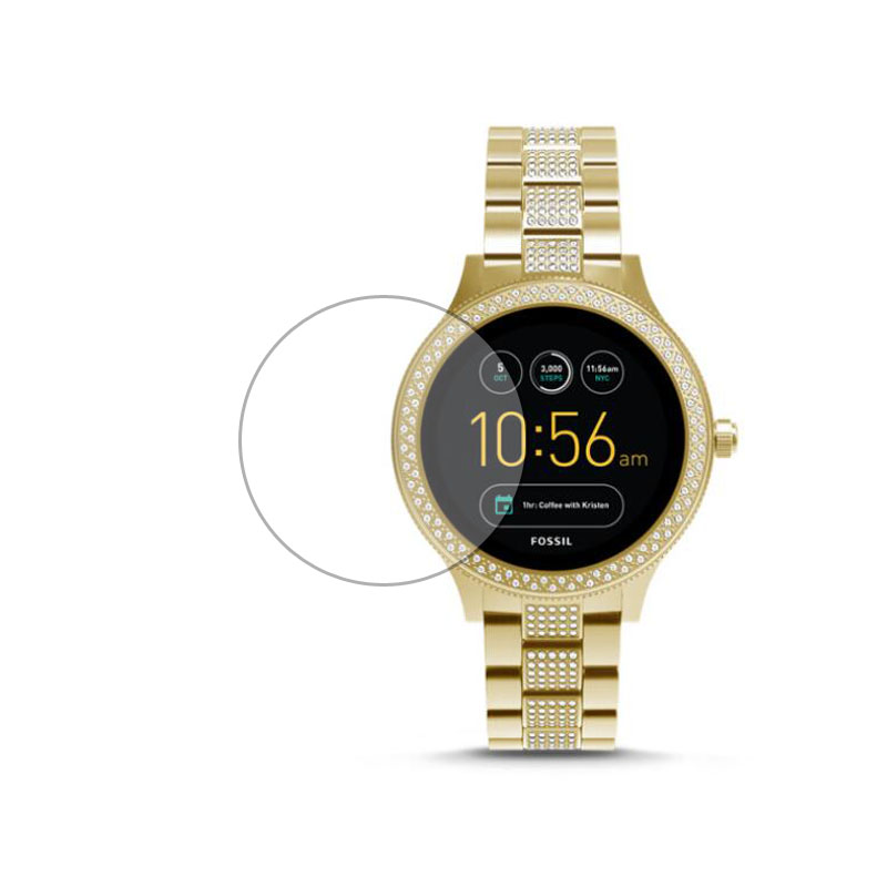 Tempered Glass Protective Film Ultra Clear Guard For Fossil Q Venture Gen 3 Generation Watch Smartwatch Screen Protector Cover