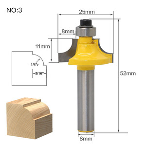 Image 3 - 1 шт. 8 мм хвостовик прямой конец мельница очистки для промывания и подравнивания Tenon фрезы по дереву угловой круглый бокс фрезы высокого качества