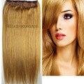 #16 envío libre 1 unids sistema de la cabeza completa clip en el Pelo humano remy Virginal Brasileño extensiones de cabello 26 colores disponible