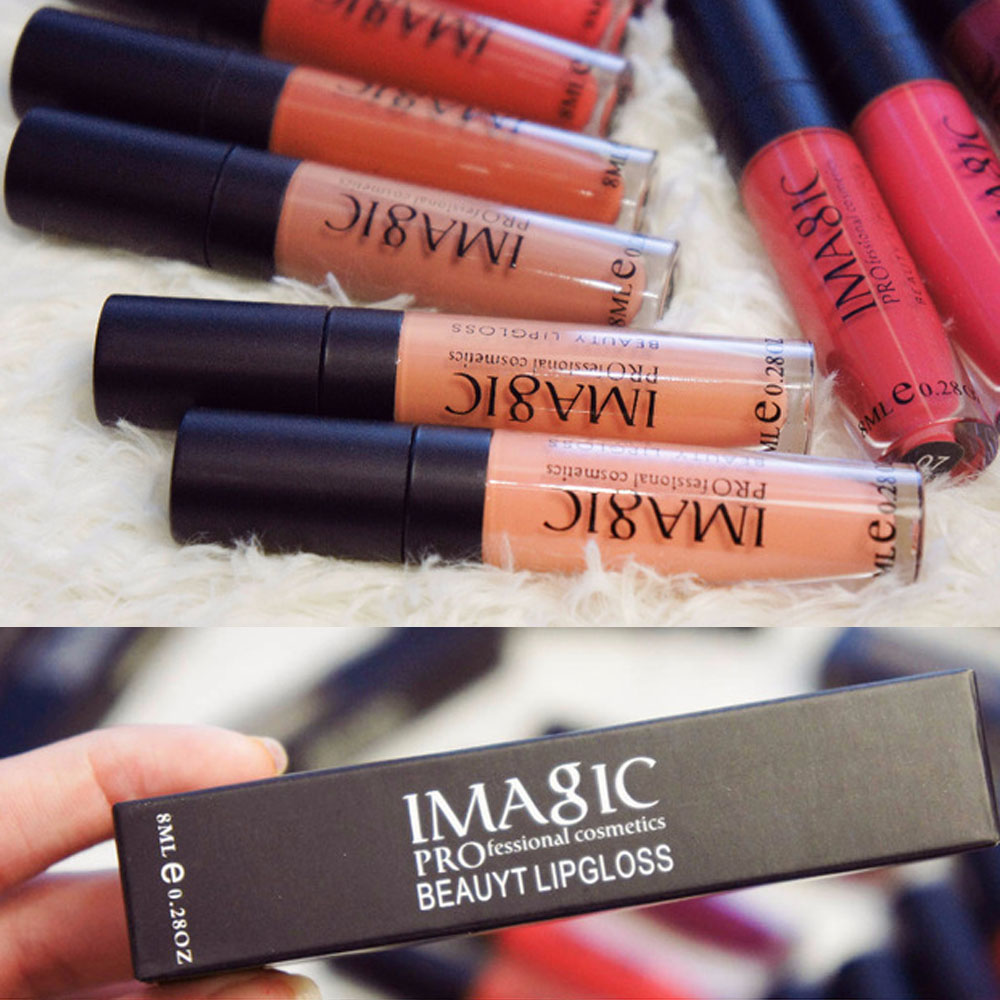 IMAGIC Lipgloss Matte Lips Waterproof Lip Gloss Makeup Cosmetic long lasting lip gloss Brand Lip Gloss