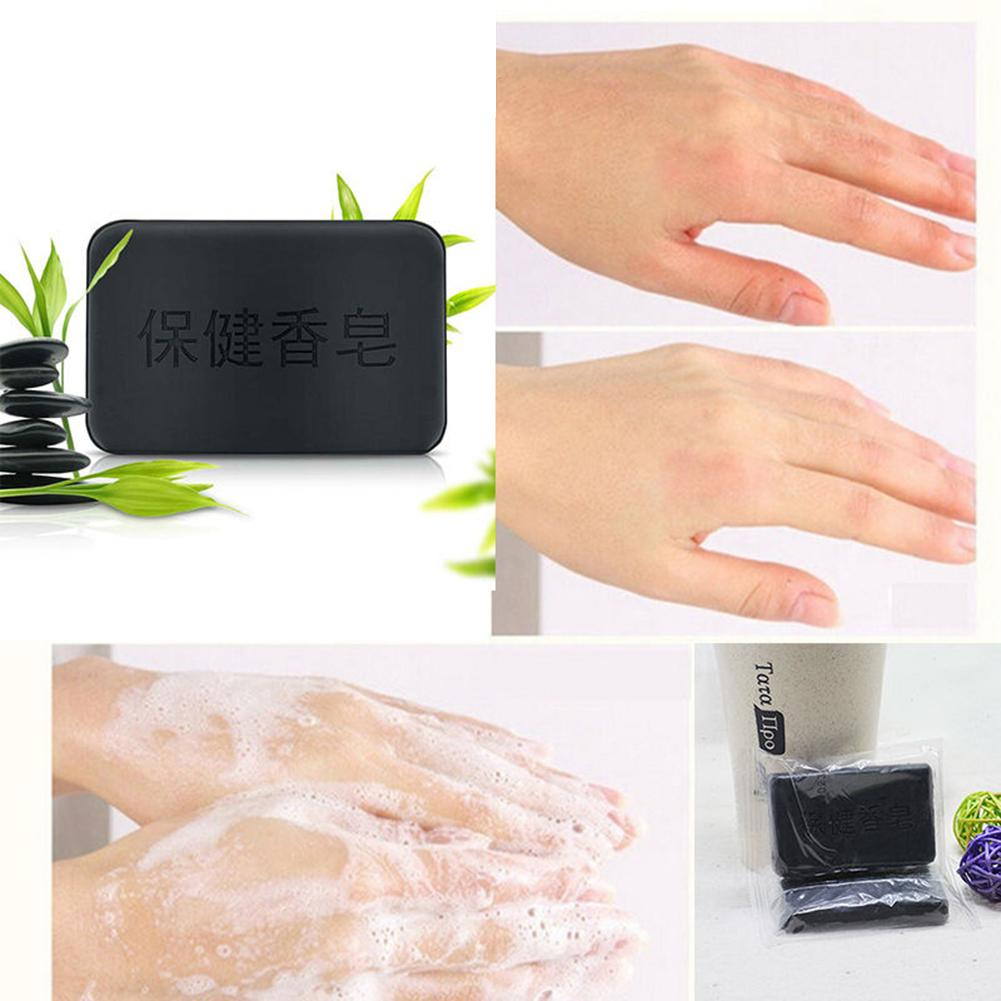 40g Soap For Face Black Bamboo Charcoal Soap Face Body Clear Beauty Effective Anti Bacterial Tourmaline Soap Bath & Shower