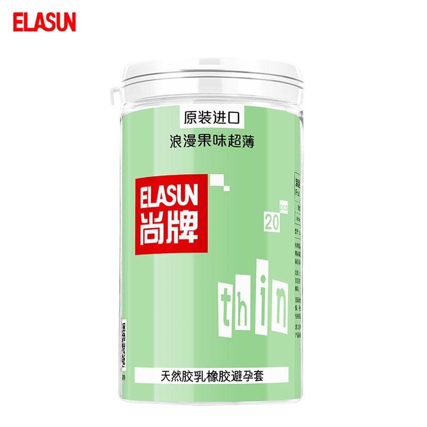 ELASUN 20 pcs Romantic Fruity Ultra Thin Lubricated font b Condoms b font Natural Latex Rubber