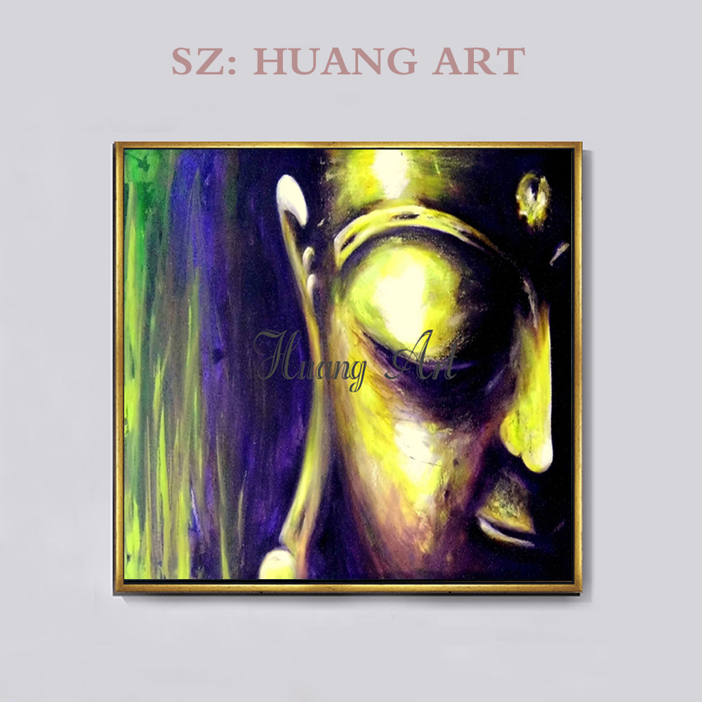 Pure hand figure painting painting quality oil painting Indian Buddha Buddha temple house hotel lobby hall wall decoratio in Painting Calligraphy from Home Garden