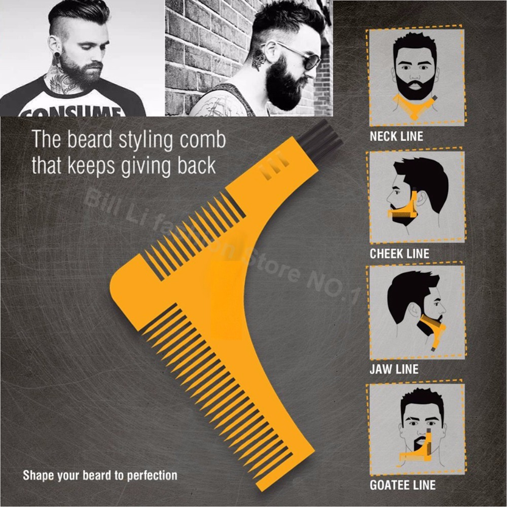 Beard Bro Hair Trimmers Beard Shaping Styling Man Gentleman Beard Trim Template hair cut molding Hair clipper jard modeling