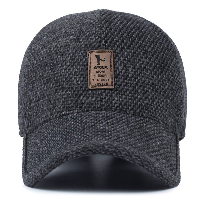 63106eb310f WOWTIGER New Winter Baseball Caps for men Leisure Sun Cap Warm Thick Hats  Men`s Ear Protection